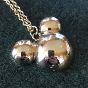 Disney Jewelry - Vintage gold Disney's Mickey necklace